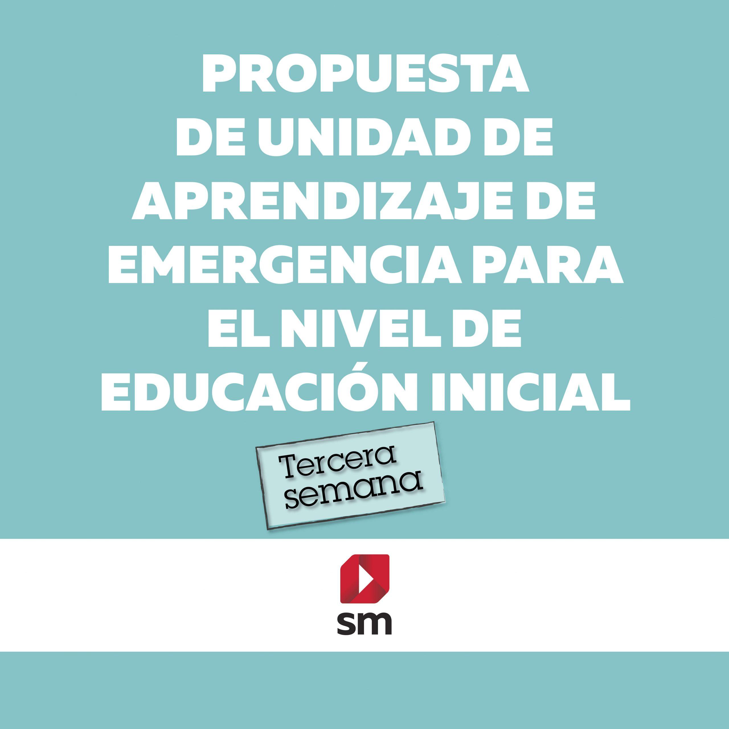 Propuesta de unidad de aprendizaje de emergencia para el nivel de educación inicial – tercera semana